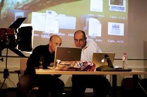 J.Benito Ruiz y Jaume Sellart preparando ponencia. Nuria Blanco Arenas©